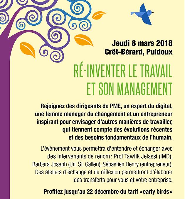 Réinventer le travail – save the date ! 08.03.2018